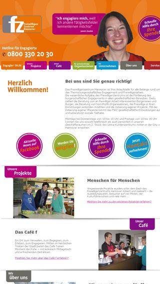 Mobile preview of freiwilligenzentrum-hannover.de