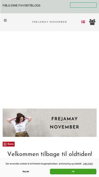Mobile preview of frejamaynovember.dk