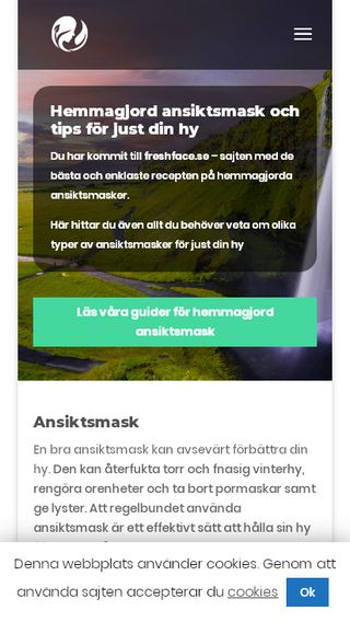 Mobile preview of freshface.se