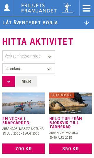 Mobile preview of friluftsframjandet.se