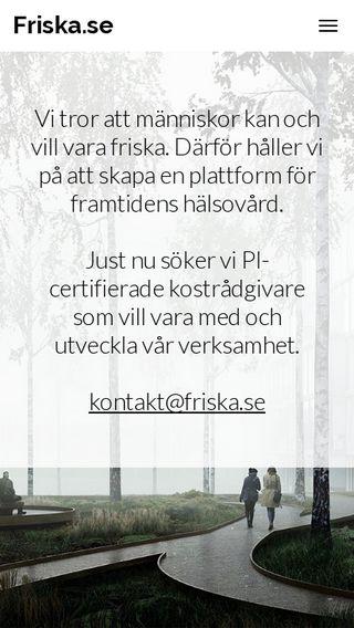 Mobile preview of friska.se
