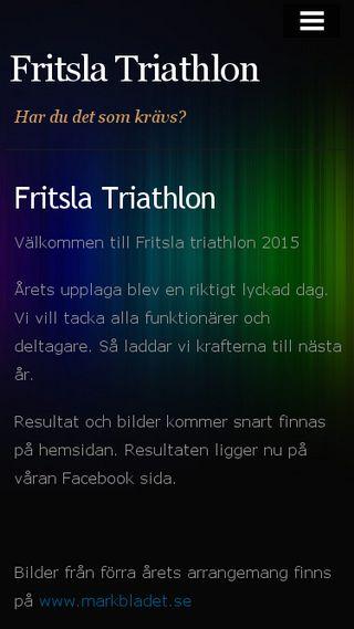 Mobile preview of fritslatriathlon.n.nu