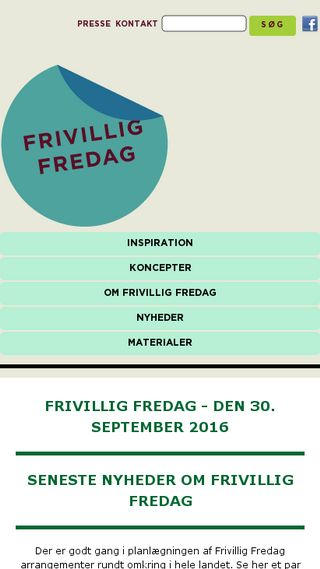 Mobile preview of frivilligfredag.dk
