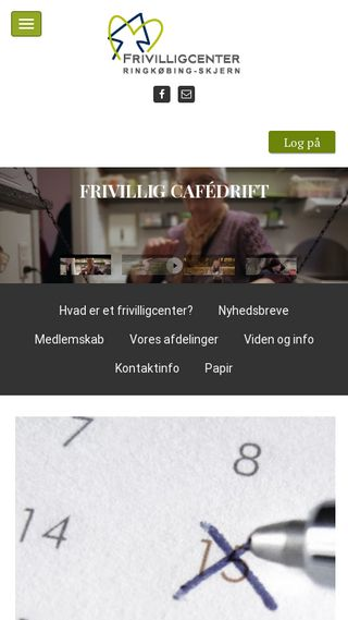 Mobile preview of frivilligvest.dk