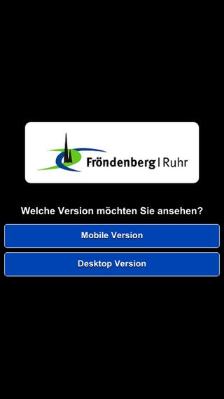 Mobile preview of froendenberg.de