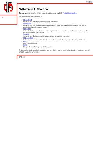 Mobile preview of fsweb.no