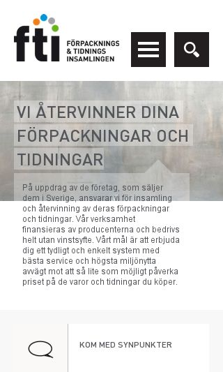 Mobile preview of ftiab.se