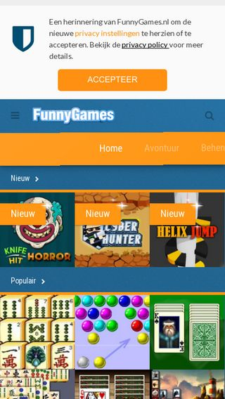 Mobile preview of funnygames.nl