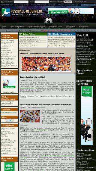Mobile preview of fussball-blogging.de