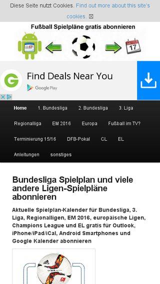 Mobile preview of fussball-spielplan.de
