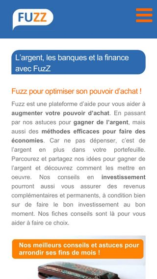 Mobile preview of fuzz.fr