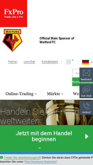 Mobile preview of fxpro.de