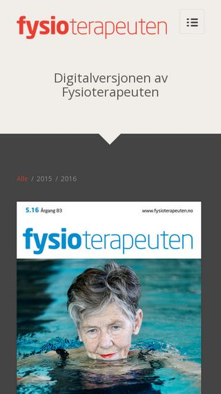 Mobile preview of fysioterapeuten-eblad.no
