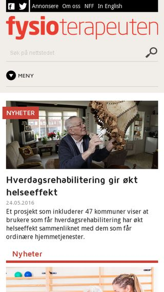 Mobile preview of fysioterapeuten.no
