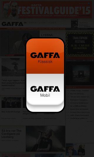 Mobile preview of gaffa.se