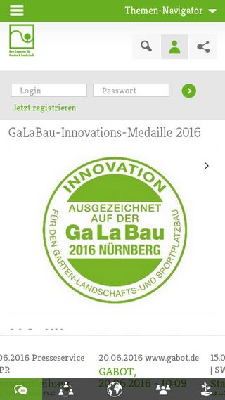 Mobile preview of galabau.de