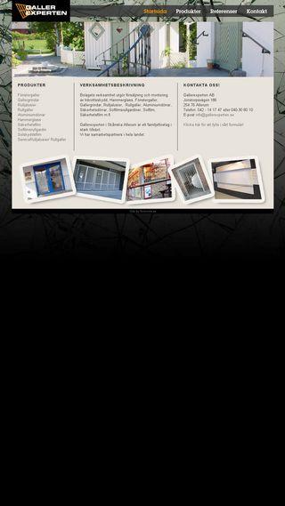 Mobile preview of gallerexperten.se