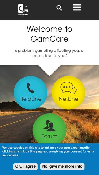 Mobile preview of gamcare.org.uk