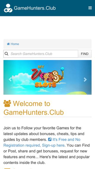 Mobile preview of gamehunters.club