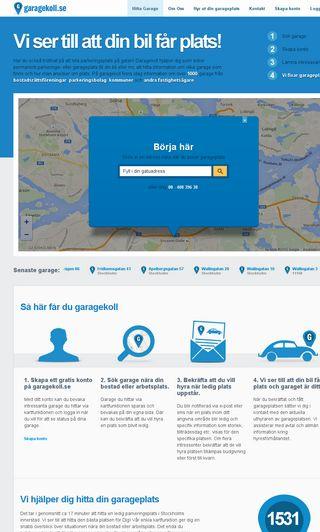 Mobile preview of garagekoll.se