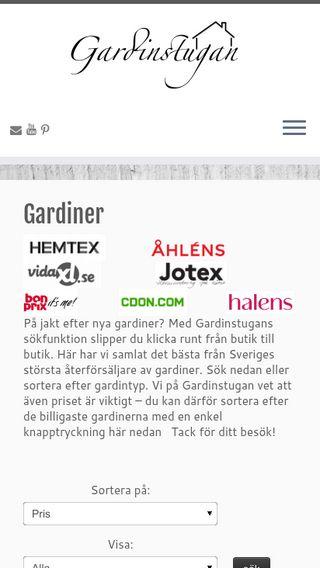 Mobile preview of gardinstugan.se