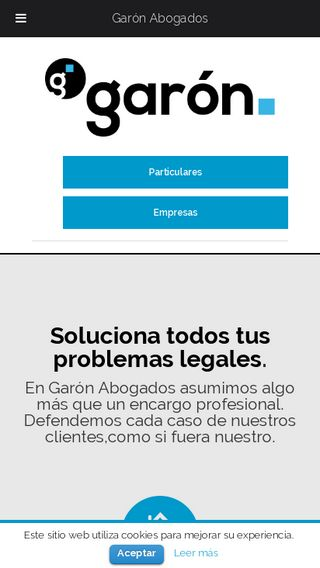 Mobile preview of garonabogados.es