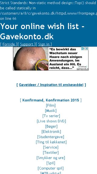 Mobile preview of gavekonto.dk