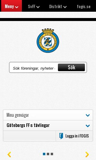 Mobile preview of gbgfotboll.se