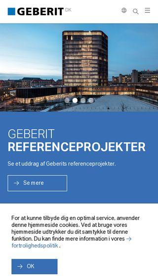 Mobile preview of geberit.dk