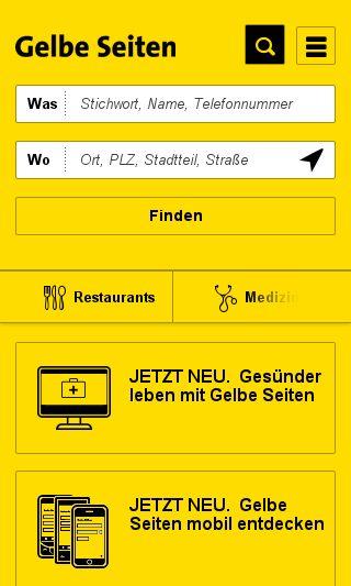 Mobile preview of gelbeseiten.de