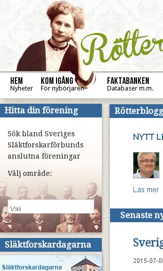 Mobile preview of genealogi.se