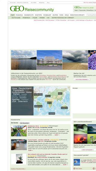 Mobile preview of geo-reisecommunity.de