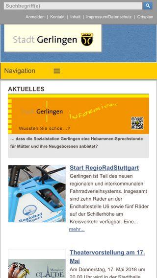 Mobile preview of gerlingen.de