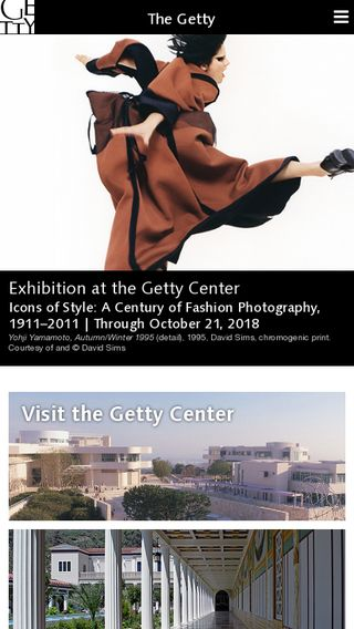 Mobile preview of getty.edu
