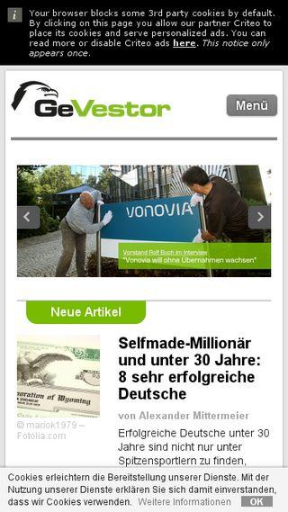 Mobile preview of gevestor.de