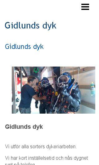 Mobile preview of gidlundsdyk.se