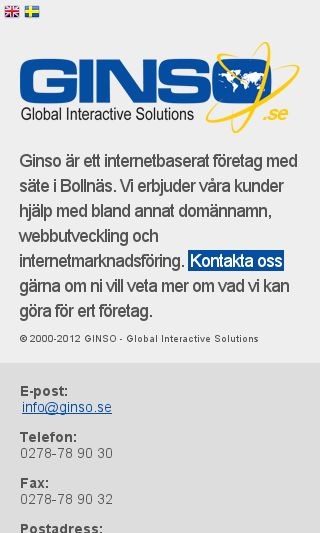 Mobile preview of ginso.se