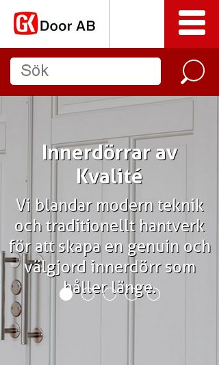 Mobile preview of gkdoor.se