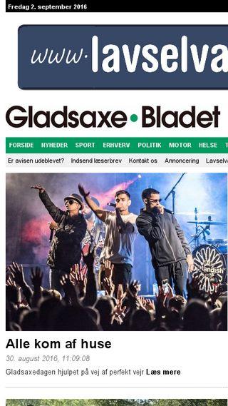 Mobile preview of gladsaxebladet.dk