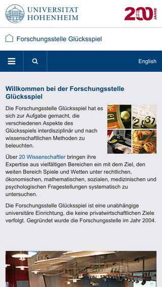 Mobile preview of gluecksspiel.uni-hohenheim.de
