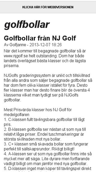 Mobile preview of golfbollar.bloggplatsen.se