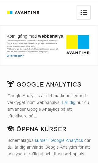 Mobile preview of googleanalyticsutbildning.se