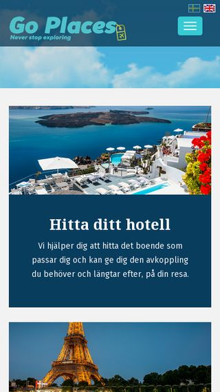 Mobile preview of goplaces.se
