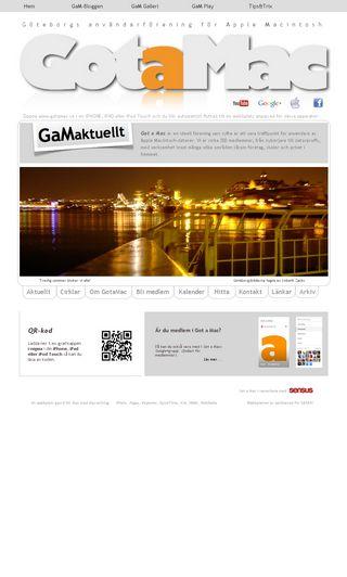 Mobile preview of gotamac.se
