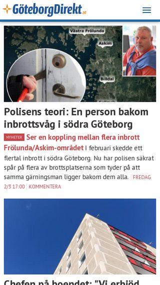 Mobile preview of goteborgdirekt.se