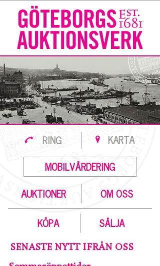 Mobile preview of goteborgsauktionsverk.se