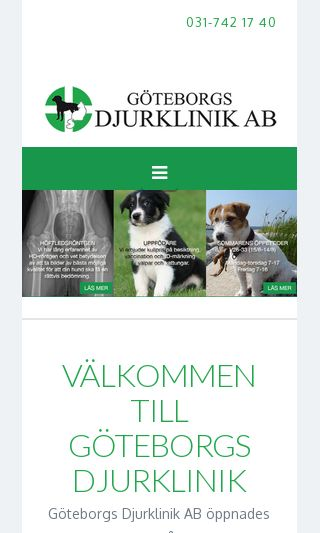 Mobile preview of goteborgsdjurklinik.se