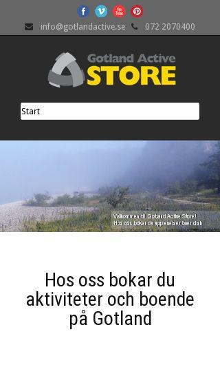 Mobile preview of gotlandactive.se