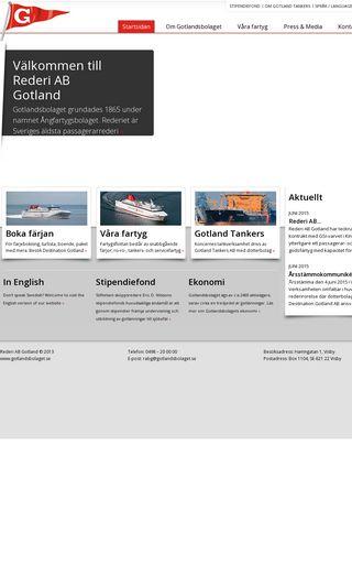 Mobile preview of gotlandsbolaget.se