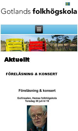 Mobile preview of gotlandsfolkhogskola.se